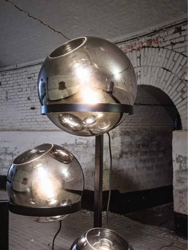 Orb Vloerlamp zwart smoking glas