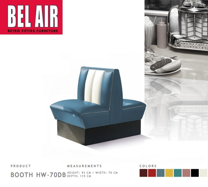 Bel Air Double Diner 50'ies HW-70DB / BLUE