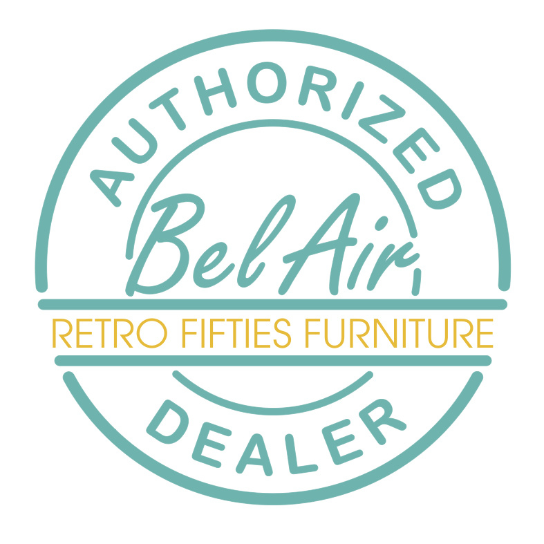 Bel Air HW-70 retro 50ies diner booth Off white black striping