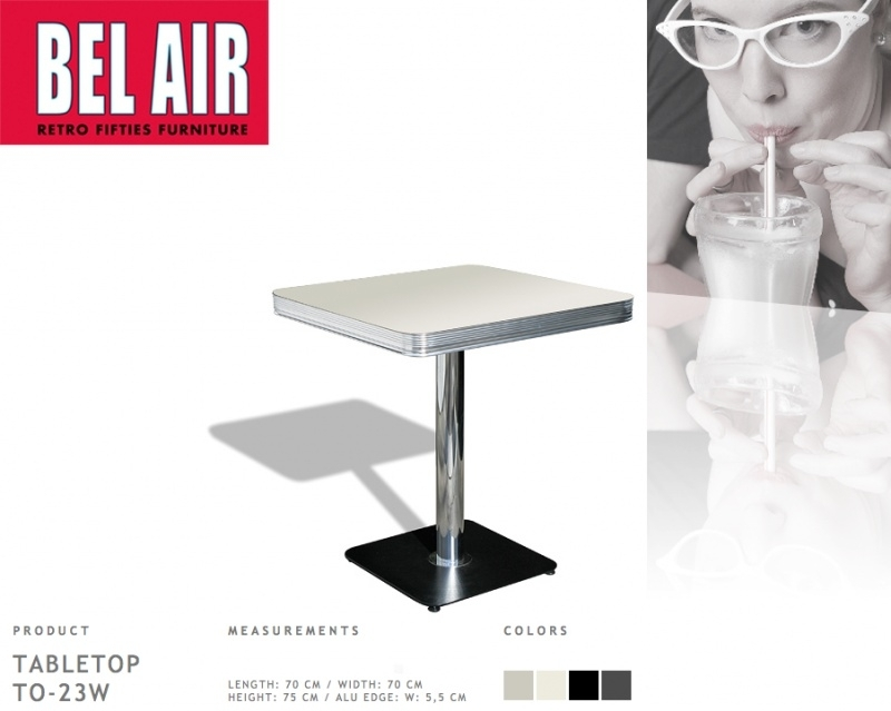 TO-23 Bel Air Diner tafel antique white