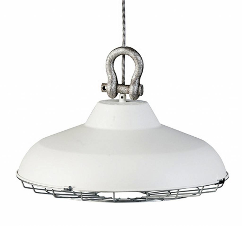 Industrie hanglamp wit