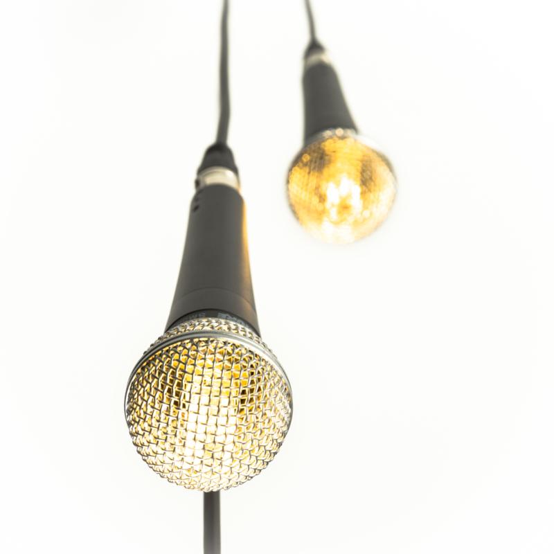 Microphone Shure Hanglamp x 3