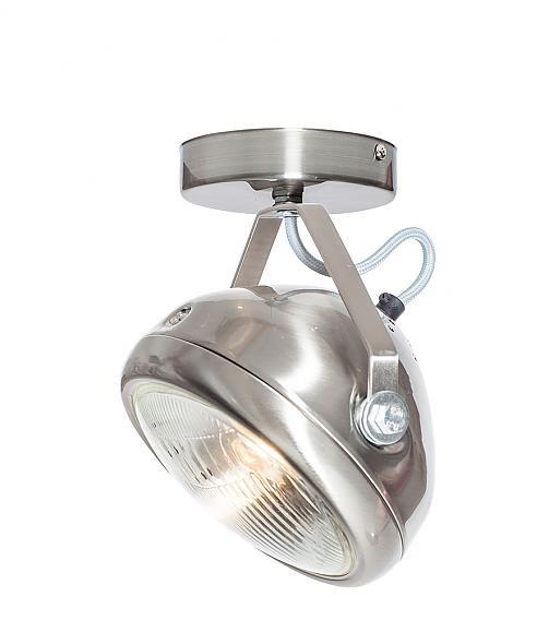 No.7 Headlight RVS - lichtgrijs