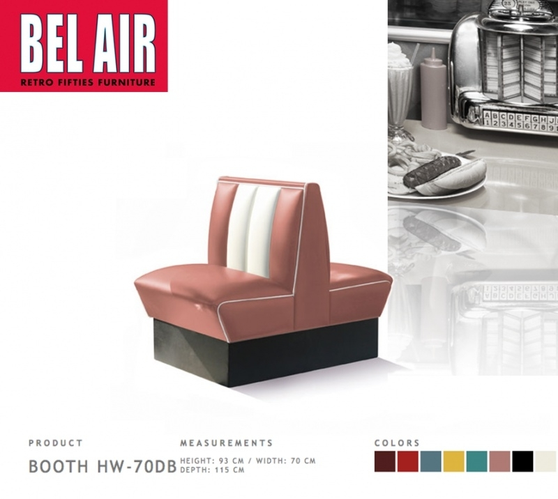 Bel Air Double Diner 50'is HW-70DB / DUSTY ROSE