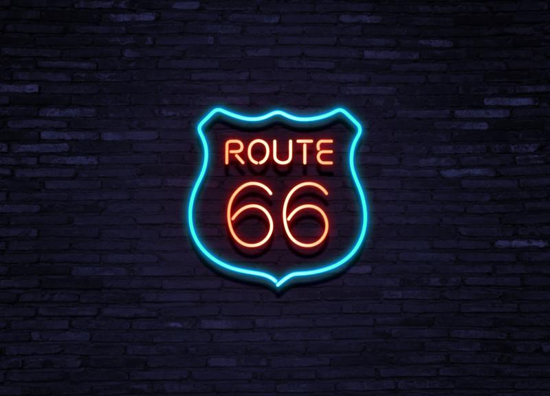 Neon lampen Route 66