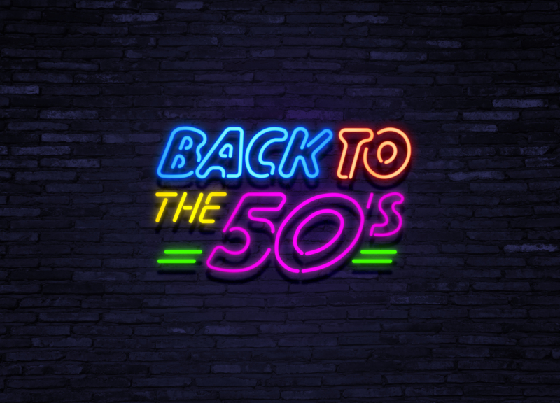 Neon verlichting, Back to the fifties