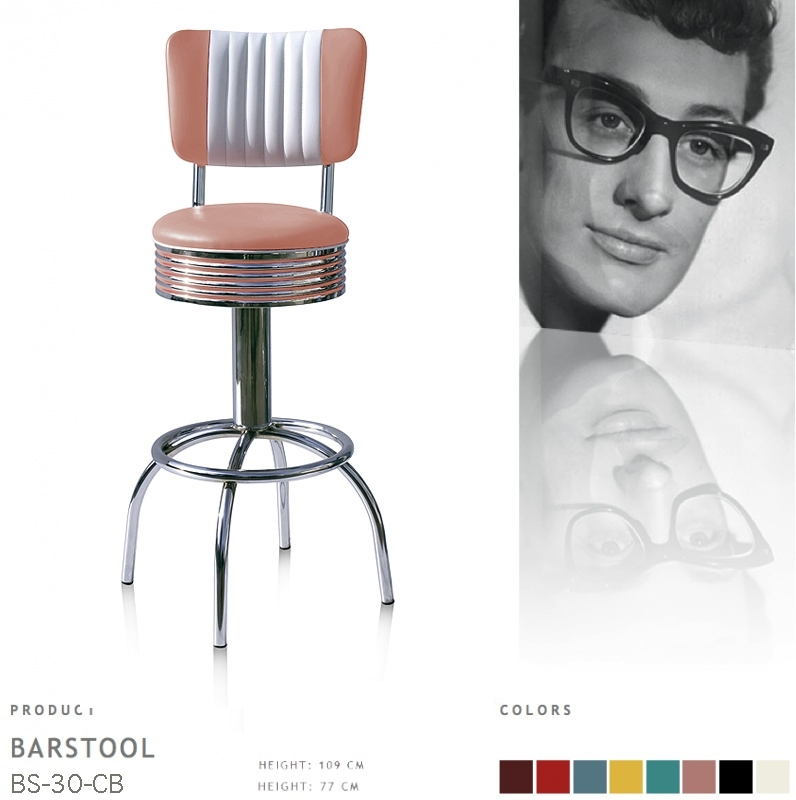 BS-30-77CB Bel Air barstool - dusty rose