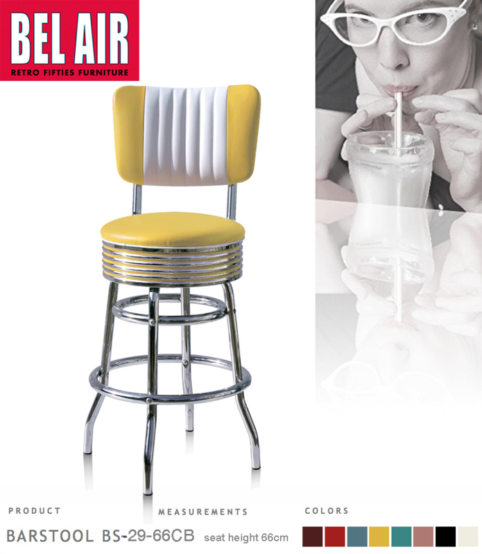 Bel Air BS-29-CB 66 Fifties kruk Geel