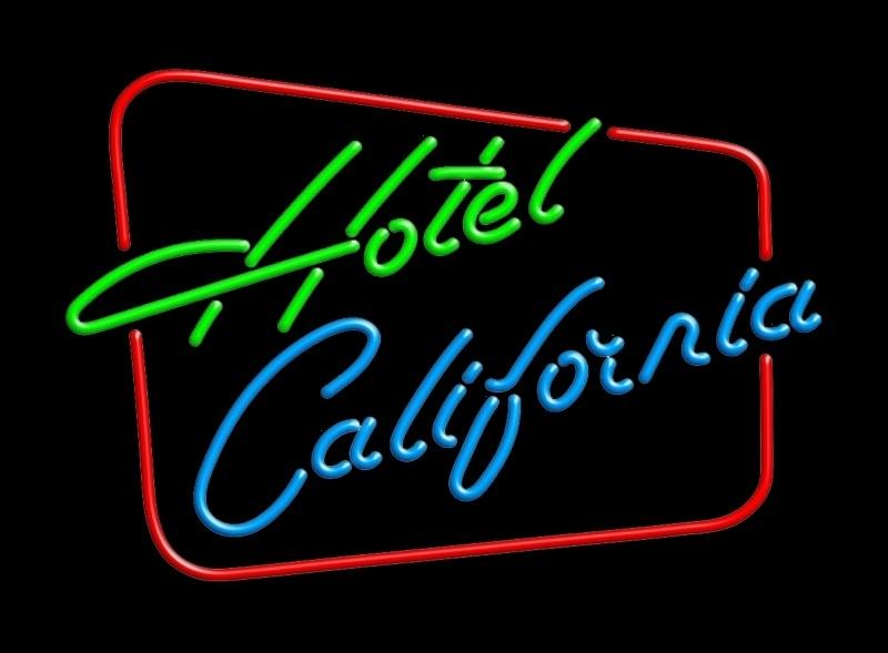Neon retro sign - Hotel California