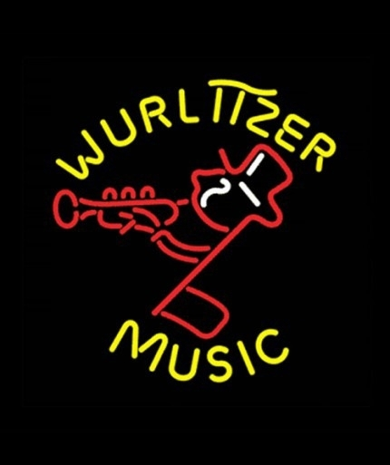 Neon Sign - Wurlitzer retro music
