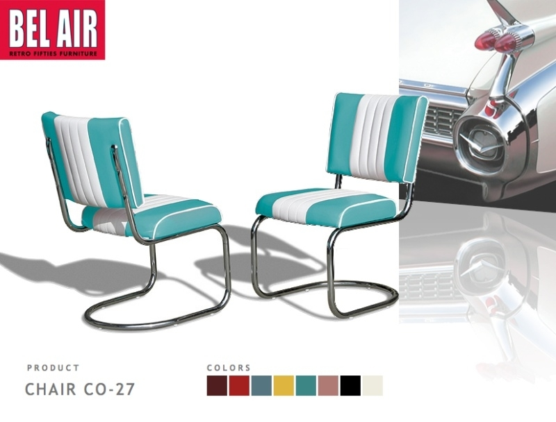 Bel Air Diner chair CO-27 turqoise