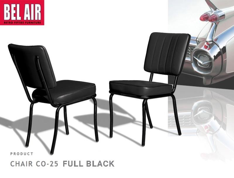 Vintage stoel CO-25 FULL BLACK