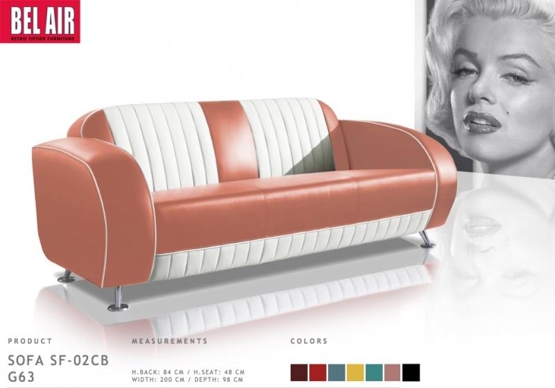 Retro 50ies furniture Diner sofa / Dusty Rose