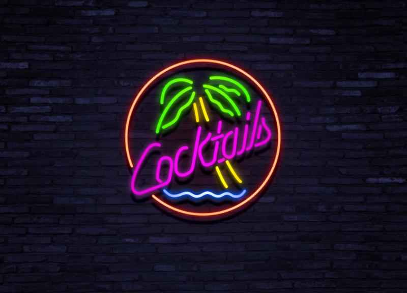 Cocktail Palm Tree Neon verlichting