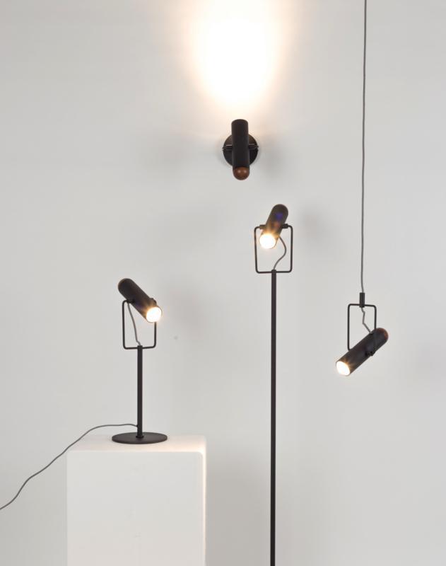 Marlon wandlamp zwart