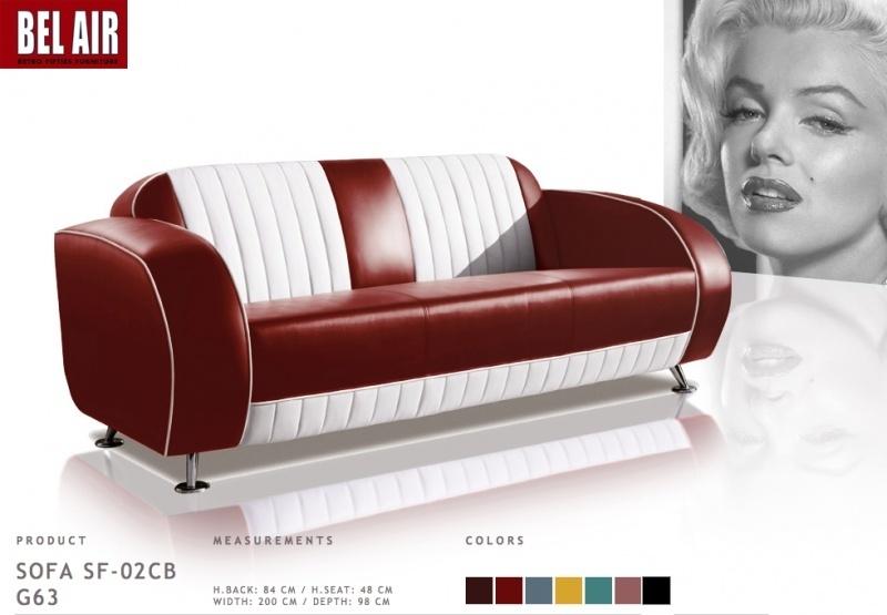 Bel Air Retro Furniture zit meubilair / Ruby Red