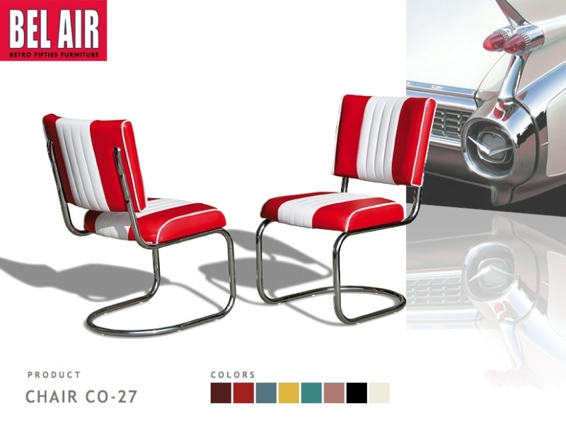 Bel Air Diner chair CO-27 red