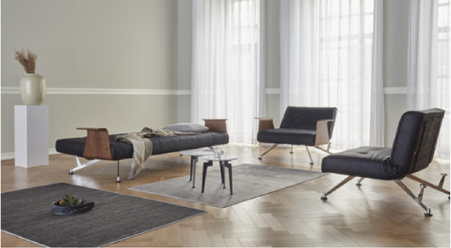 Clubber sofa - LT - Fanual black - Innovation Living