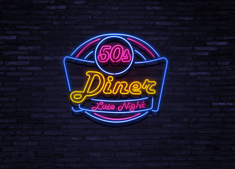 50ies Diner Late Night Neon NDLN