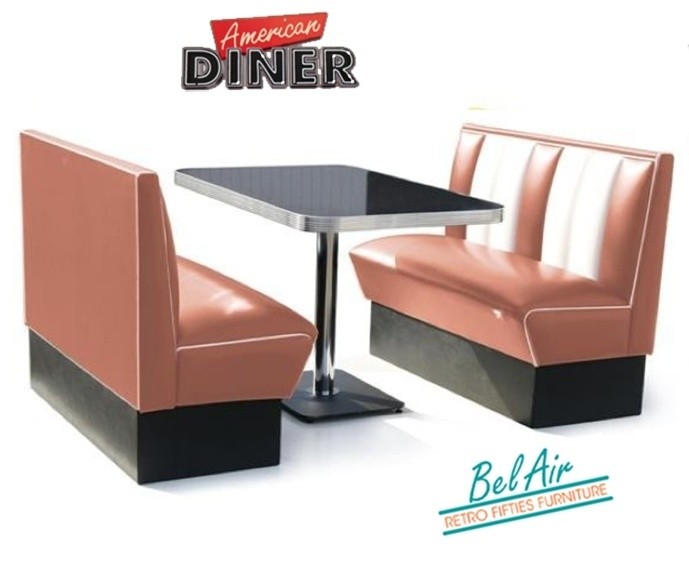 BELAIR HW-120 50's, Americano Diner booth, Dusty rose