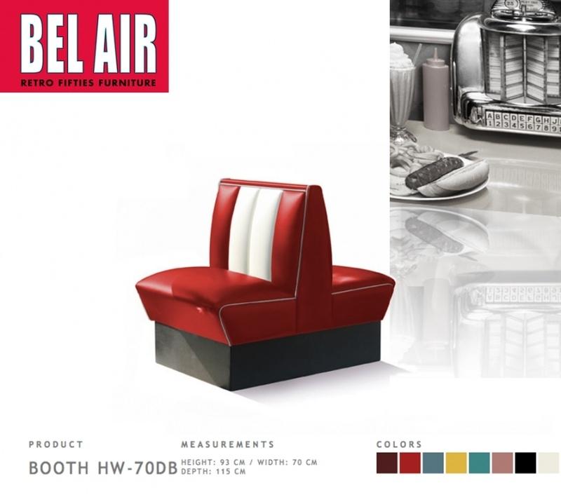 Bel Air Double Diner 50'ies HW-70DB / RED