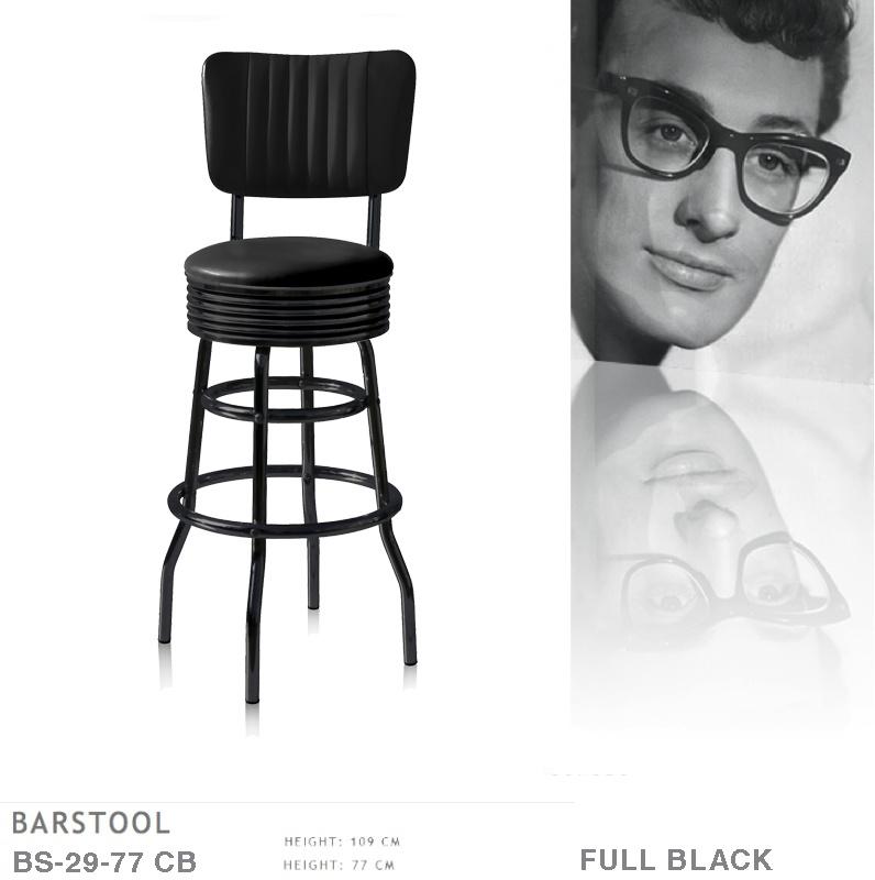 BS-29-77 CB Bel Air barstool Full Black