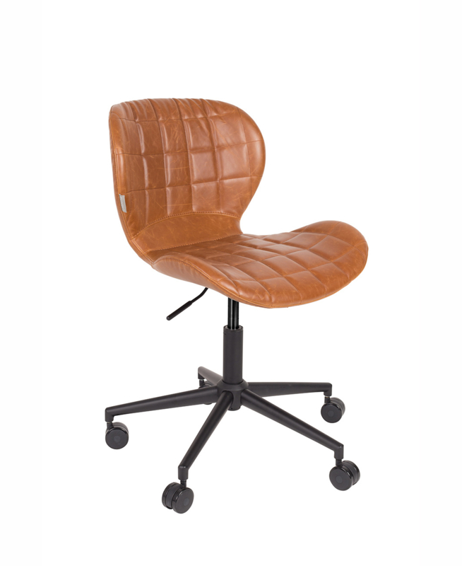 Bureaustoel Bruin Leer.Zuiver Bureaustoel Omg Bruin Vintage Leder Verstelbaar