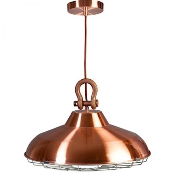 Industrie hanglamp koper