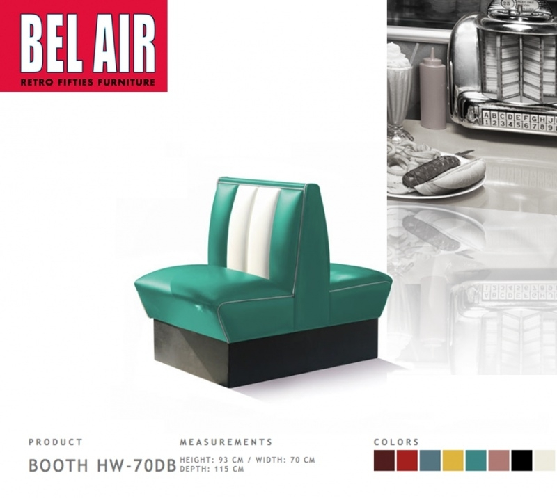Bel Air Double Diner 50'ies HW-70DB / TURQOUISE