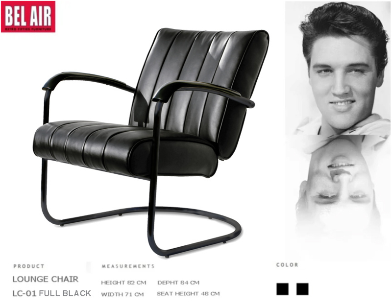 LC-01 Lounge Chair Black On Black