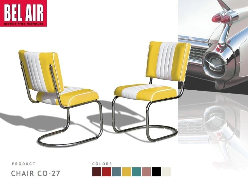 Bel Air Diner chair CO-27 geel
