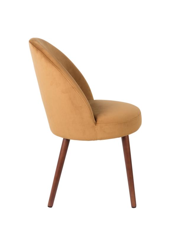 Barbara Chair Fluweel Camel