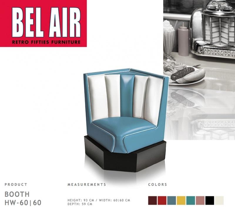 Bel Air 50ies diner corner booth / BLUE