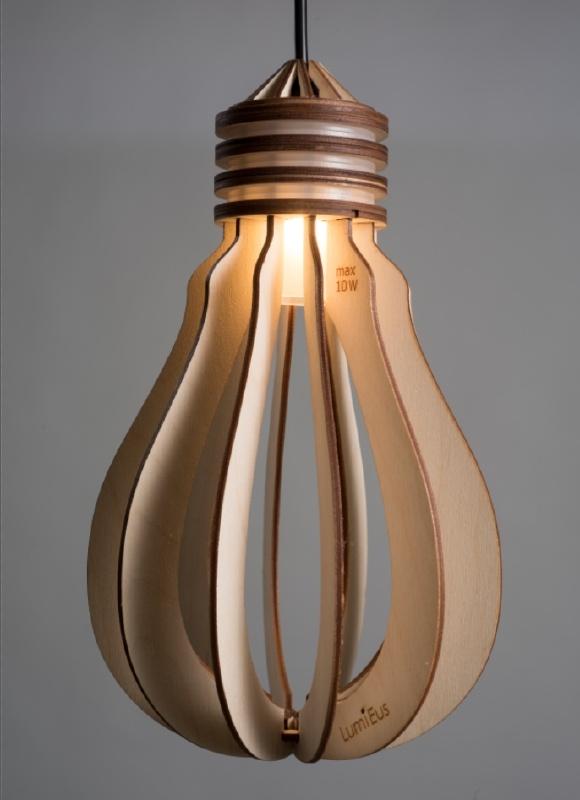 Wooden Bulb - Grote Peer