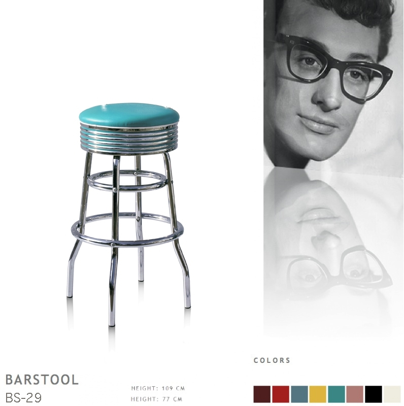 BS-29-77 Bel Air barstool - turquoise
