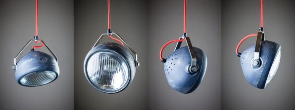 Koplamp Headlight hanglamp motor katoenen snoeren hetlichtlab