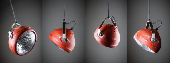 Head retro light koplamp shijnwerper modern vintage verlichting hanglamp Het Lichtlab Headlight ETH