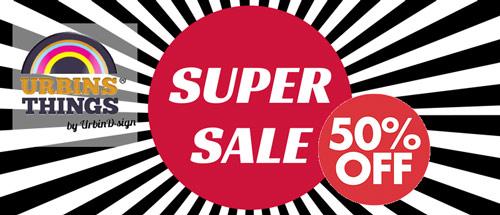 50% korting op alle cadeaus en gadgets