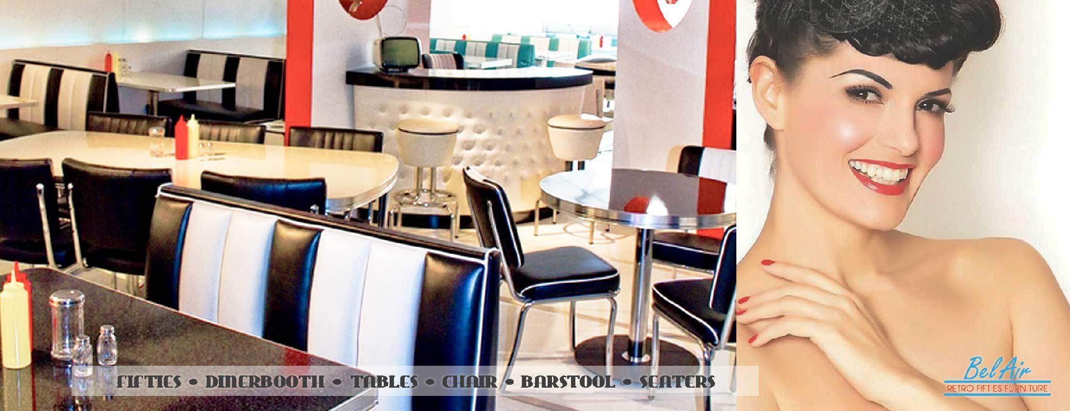 Amerikaanse diner voor thuis of zakelijk gebruik! Gehele collectie Bel Air meubels