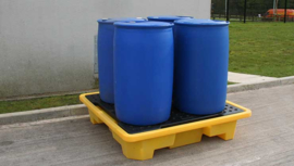 4 Drum opstapelbare lekbak
