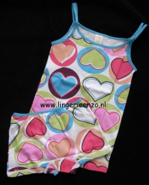 Meisjeshemd met shortje hart