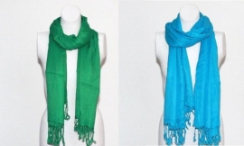 Pashmina shawl groen of turkoois
