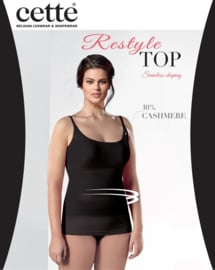 Restyle top in zwart, wit of huid XL - 3XL