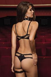 Glory string zwart 42 (Lisca Selection)
