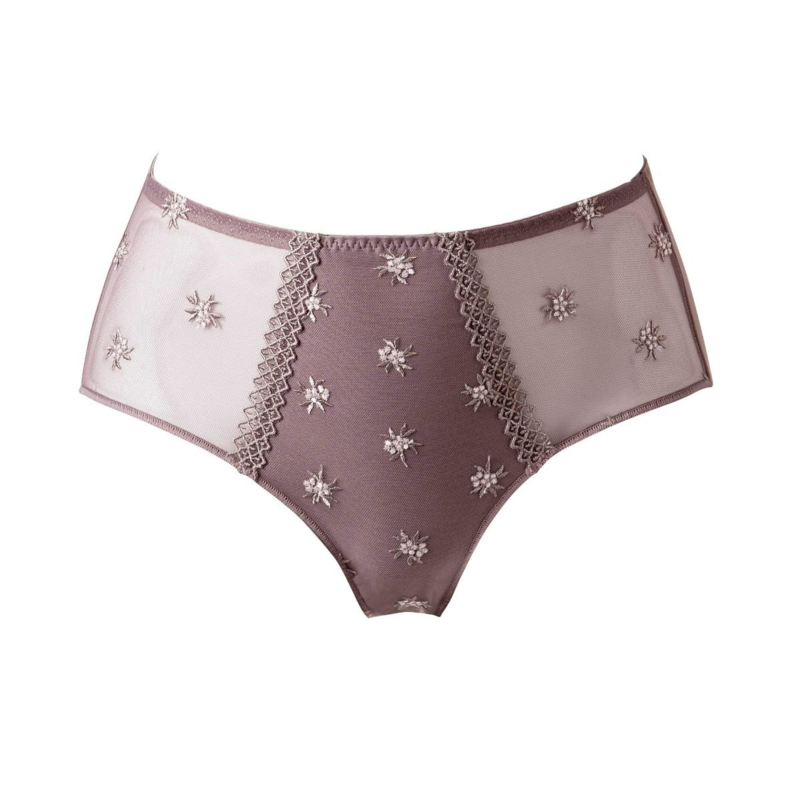 Chantilly hoge slip in taupe 44