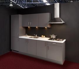 Keuken 103, Nobilia MineraalGrijs, 270 cm. en supercompleet.
