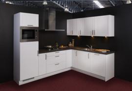 Keuken 127, Nobilia Credo wit, 270x212 cm. en supercompleet
