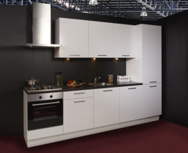 Keuken 132, ECO Capri soft-glans wit, 300 cm. en supercompleet