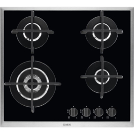 AEG Gas op Glas Kookplaat HG694550XB