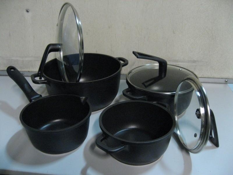 Pannenset Black Basic - 7-delig